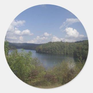 WV Overlook Classic Round Sticker