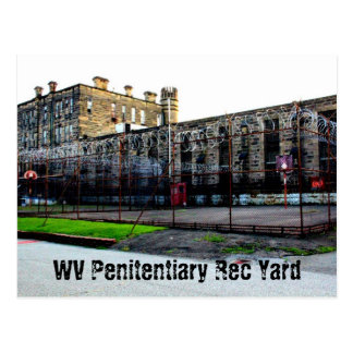 WV Penitentairy Rec. Yard Postcard