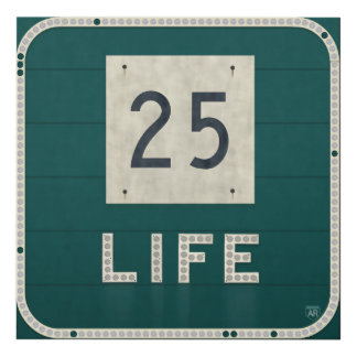WV Route 25 Life Panel Wall Art