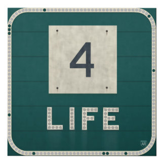 WV Route 4 Life Panel Wall Art
