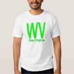 WV West Virginia plain green Tee Shirts