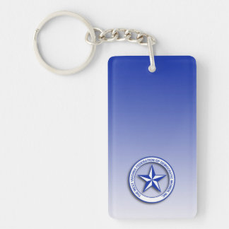 WVFDW Blue Gradient Single-Sided Rectangular Acrylic Keychain