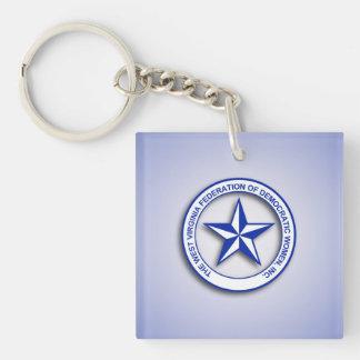 WVFDW Blue Gradient Single-Sided Square Acrylic Keychain