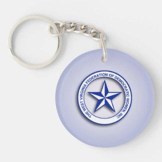 WVFDW Gradient Blue Single-Sided Round Acrylic Keychain