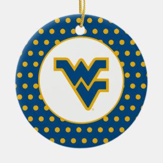 WVU Blue & Gold Ceramic Ornament