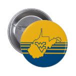 WVU en el estado de Virginia Occidental Pin Redondo De 2 Pulgadas