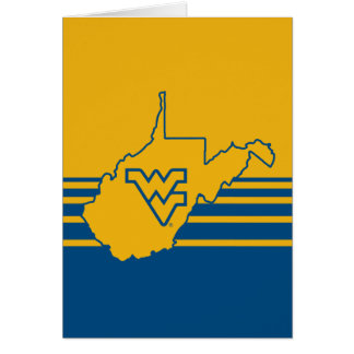 WVU in state of West Virginia Card