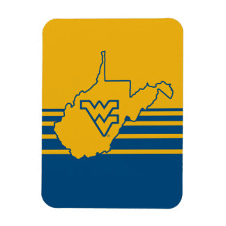 WVU in state of West Virginia Magnet