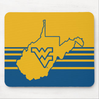 WVU in state of West Virginia Mouse Pad