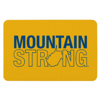 WVU Mountain Strong Rectangular Photo Magnet