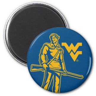 WVU Mountaineer 2 Inch Round Magnet