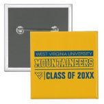 WVU Mountaineers Alumni Pinback Button