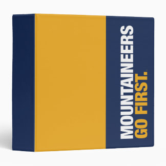 WVU Mountaineers Go First 3 Ring Binder