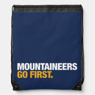 WVU Mountaineers Go First Drawstring Bag