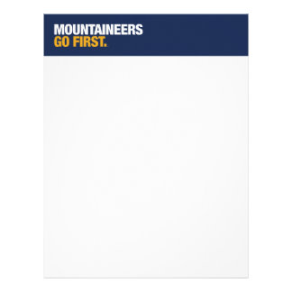 WVU Mountaineers Go First Letterhead