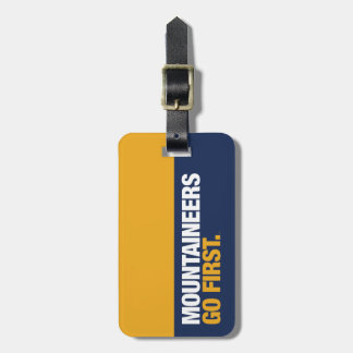 WVU Mountaineers Go First Luggage Tag