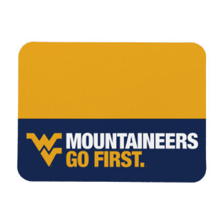 WVU Mountaineers Go First Magnet