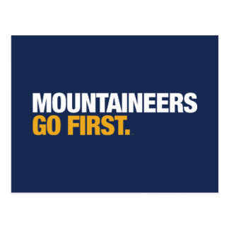 WVU Mountaineers Go First Postcard