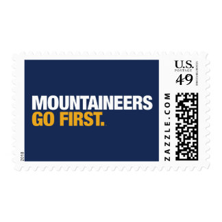 WVU Mountaineers Go First Stamp