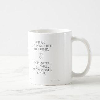 WW013 badass bunny jedi mind meld waitwot Classic White Coffee Mug