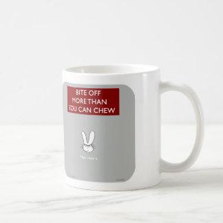 WW060, waitwot, badass bunny, bunny, bite off, mor Coffee Mug