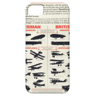 WW1 Aircraft Recognition Poster iPhone 5 Cover