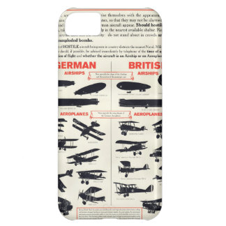 WW1 Aircraft Recognition Poster Case For iPhone 5C