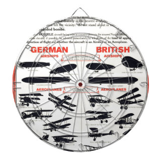 WW1 Aircraft Recognition Poster Dartboard