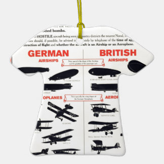 WW1 Aircraft Recognition Poster Double-Sided T-Shirt Ceramic Christmas Ornament