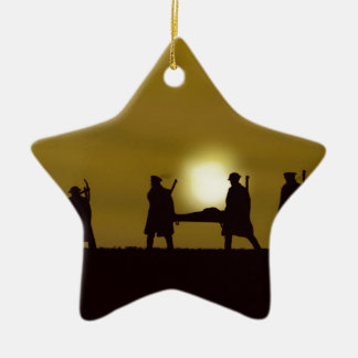 WW1 British Heroes Double-Sided Star Ceramic Christmas Ornament