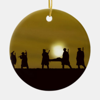 WW1 British Heroes Double-Sided Ceramic Round Christmas Ornament