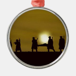 WW1 British Heroes Round Metal Christmas Ornament