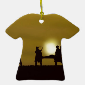 WW1 British Heroes Double-Sided T-Shirt Ceramic Christmas Ornament
