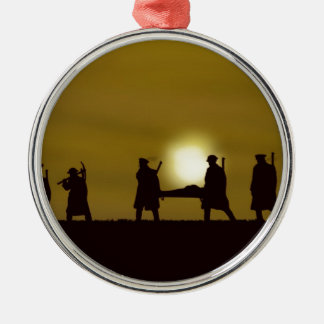 WW1 British Heroes Round Metal Christmas Ornament