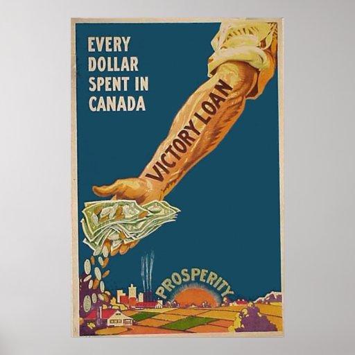 WW1 Canadian Patriotic Canada Prosperity Arm Poster