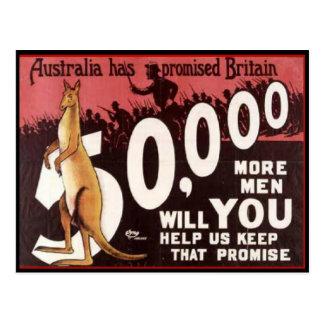 WW1 Collectors Card 1914 AUSTRALIA PROPAGANDA