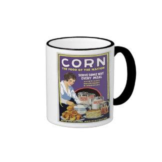 WW1 Food Administration Vintage Corn Ringer Coffee Mug