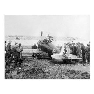 WW1 German Fighter Plane, 1910s Postcard