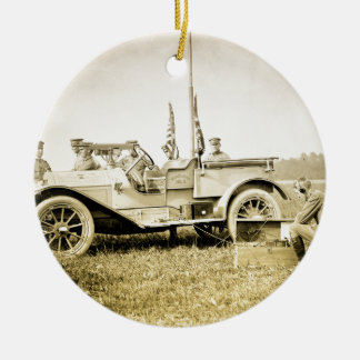 WW1 Military Double-Sided Ceramic Round Christmas Ornament