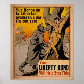 WW1 Propaganda Liberty Bonds Poster
