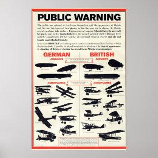 WW1 Public Warning Propaganda Poster