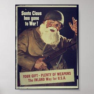 WW1 Santa print