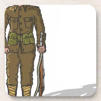 WW1 soldier Marine Sketch Coaster