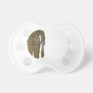 WW1 soldier Marine Sketch Pacifier