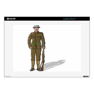 WW1 soldier Marine Sketch Skins For Laptops
