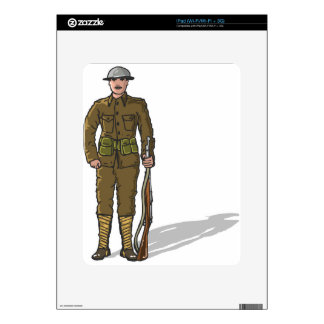 WW1 soldier Marine Sketch Skins For The iPad