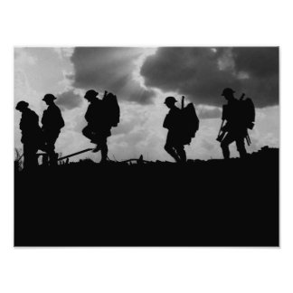 WW1 Soldier Silhouettes - Battle of Broodseinde Poster