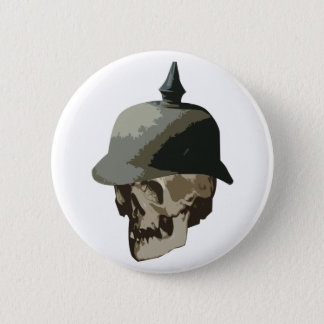 WW1 spiked helmet and skull Button