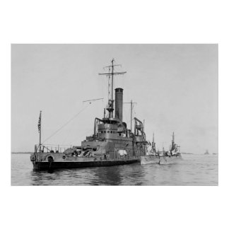 WW1 Submarine Tender, 1916 Poster