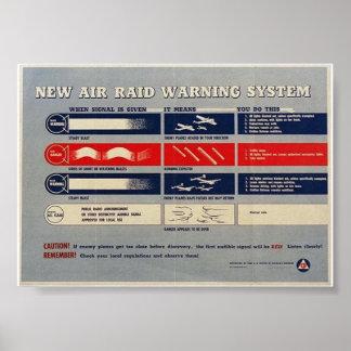 "WW2 ""Air Raid Warning System"" - Homeland Security Poster"